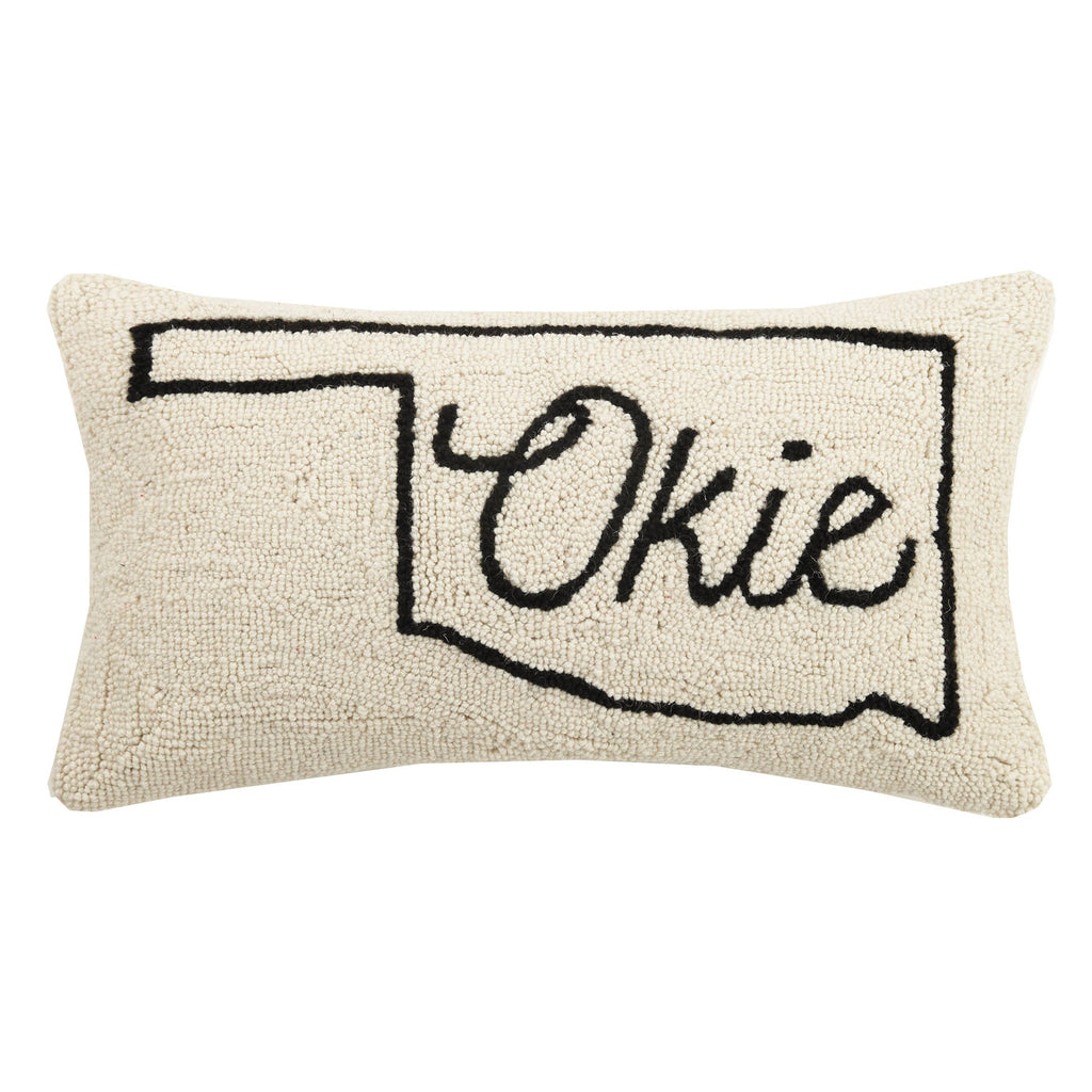 Okie Map Oklahoma Hook Pillow
