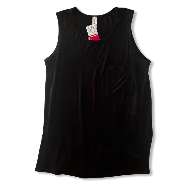 Bamboo Pocket Tank {Black}