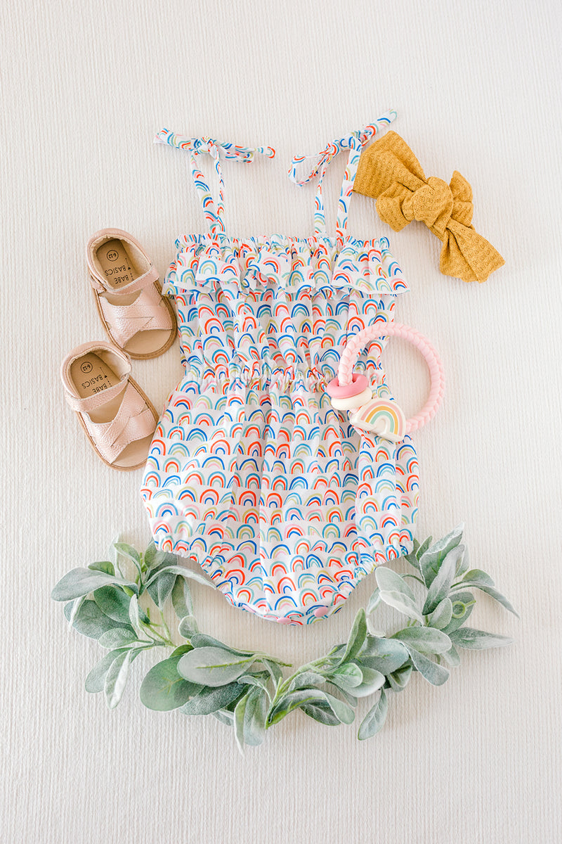 Rainbow Strappy Romper
