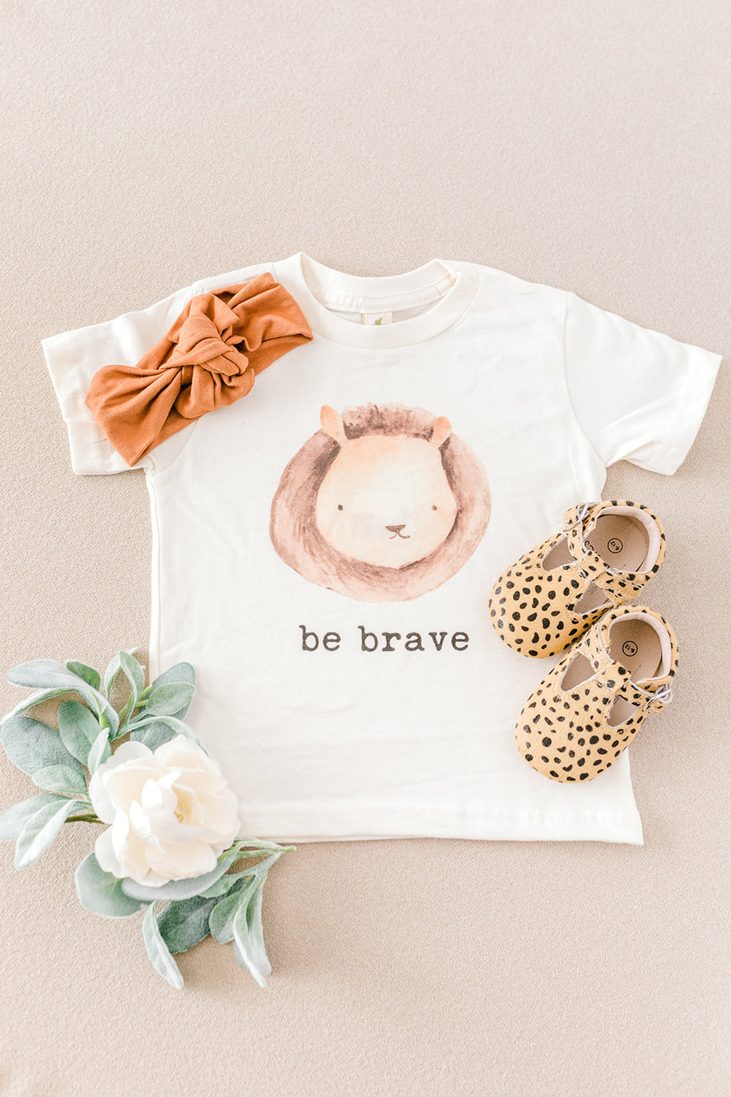 """Be Brave"" Short Sleeve Organic Tee"
