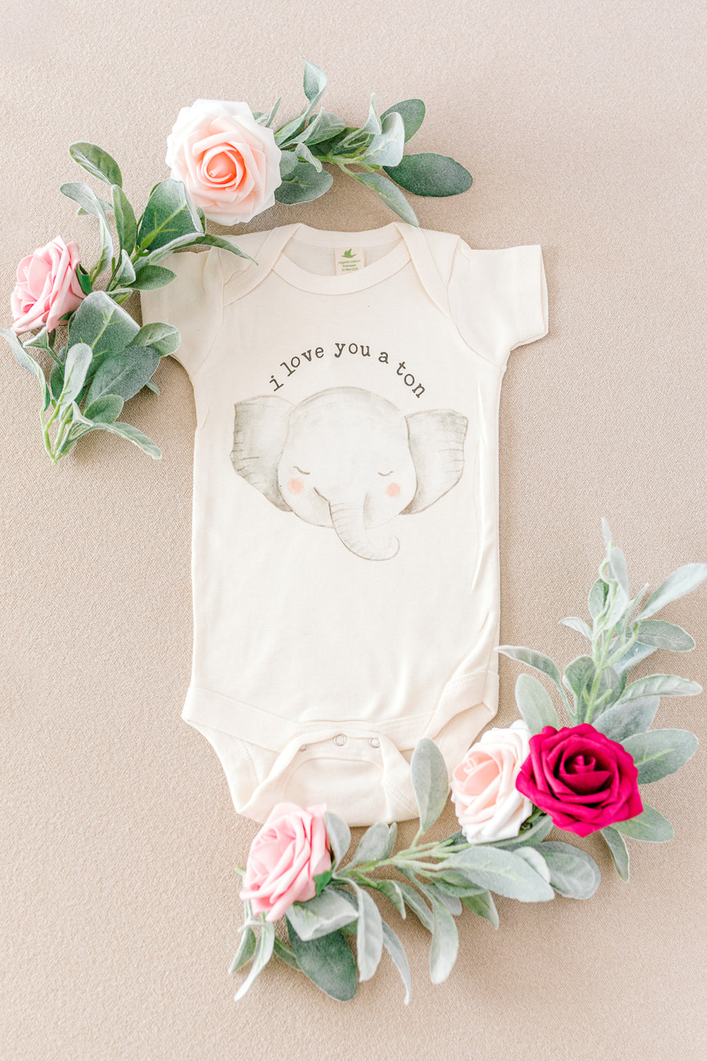 """I Love You A Ton"" Organic Bodysuit"
