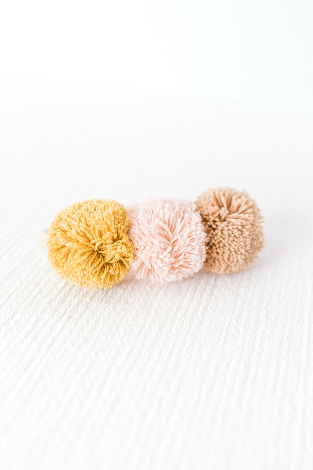 Golden Pom Pom Headband