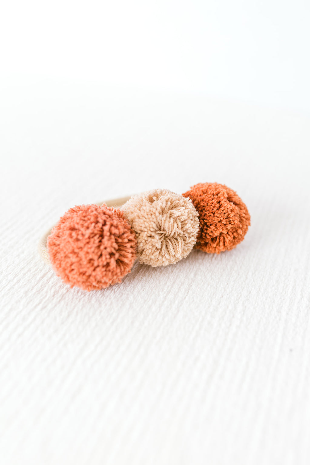 Natural Pom Pom Headband