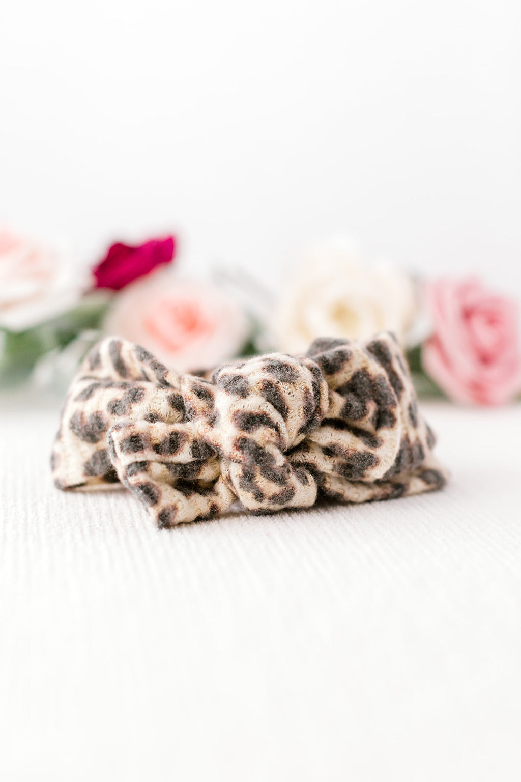 Natural Leopard Baby Head Wrap