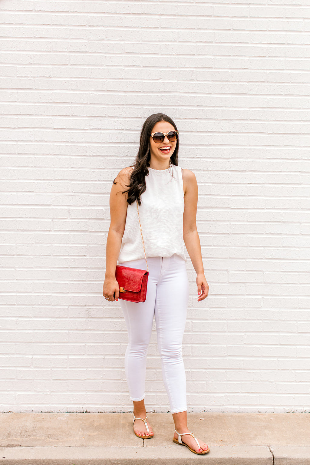 Ruffle Mock Neck Blouse {Ivory}
