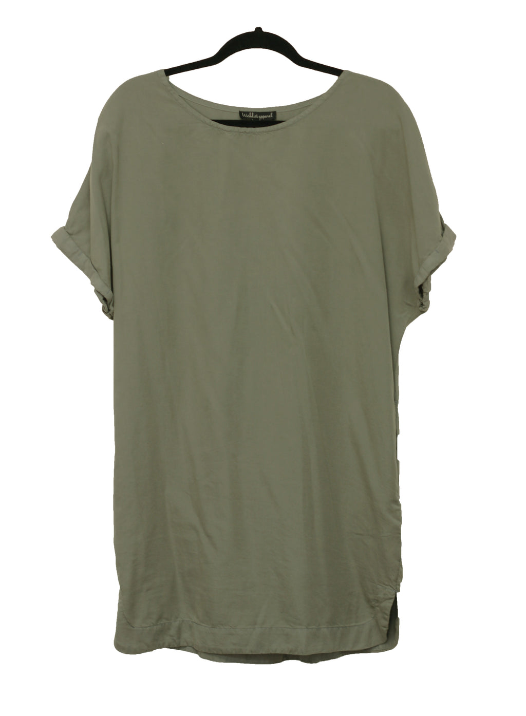 Short Sleeve Tencel Dress {Sage}