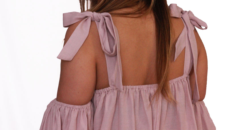 Off Shoulder Crepe Top {Mauve}
