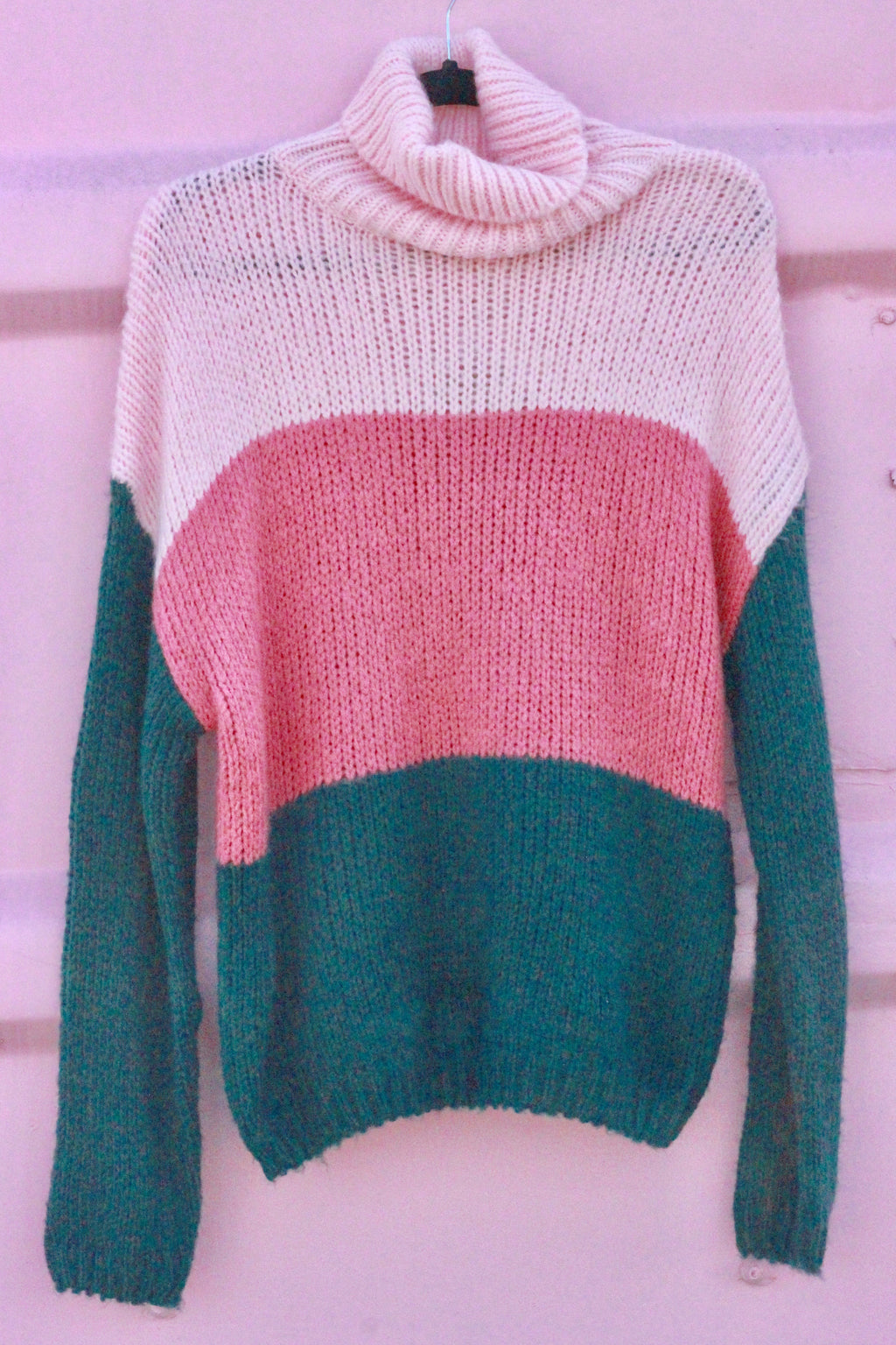 Color Block Knit Pullover