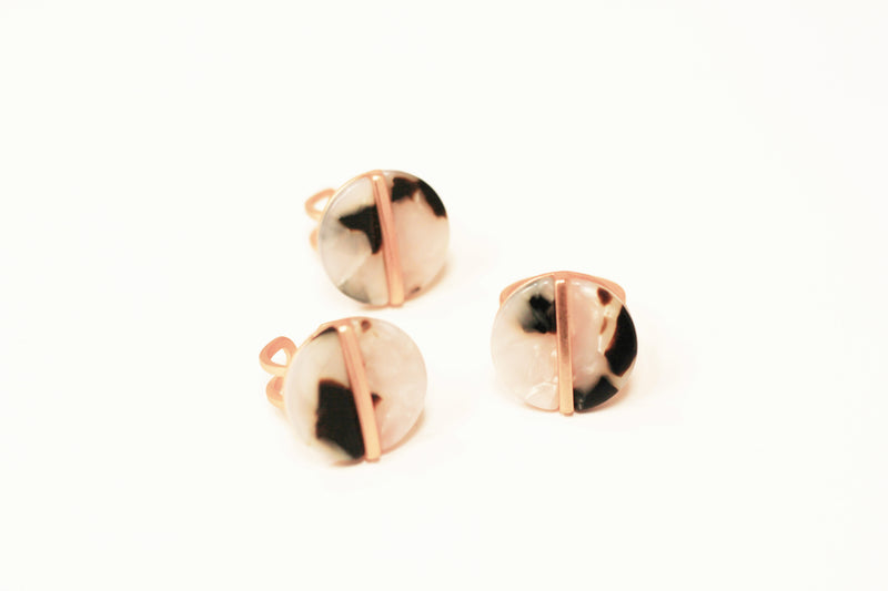 Laser Cut Earrings {Brown}