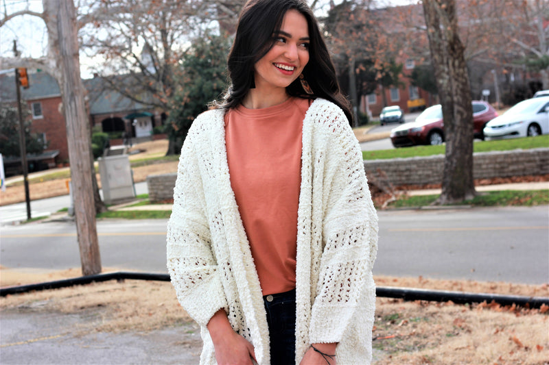 Holes Sweater Cardigan