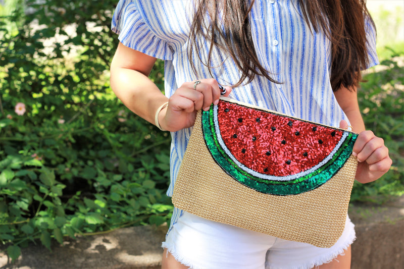 Watermelon Slice Clutch