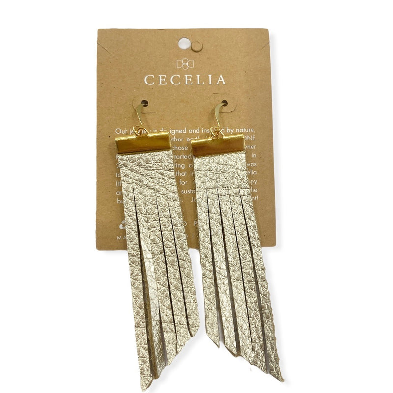 Bar Tassel Earrings {Champagne}