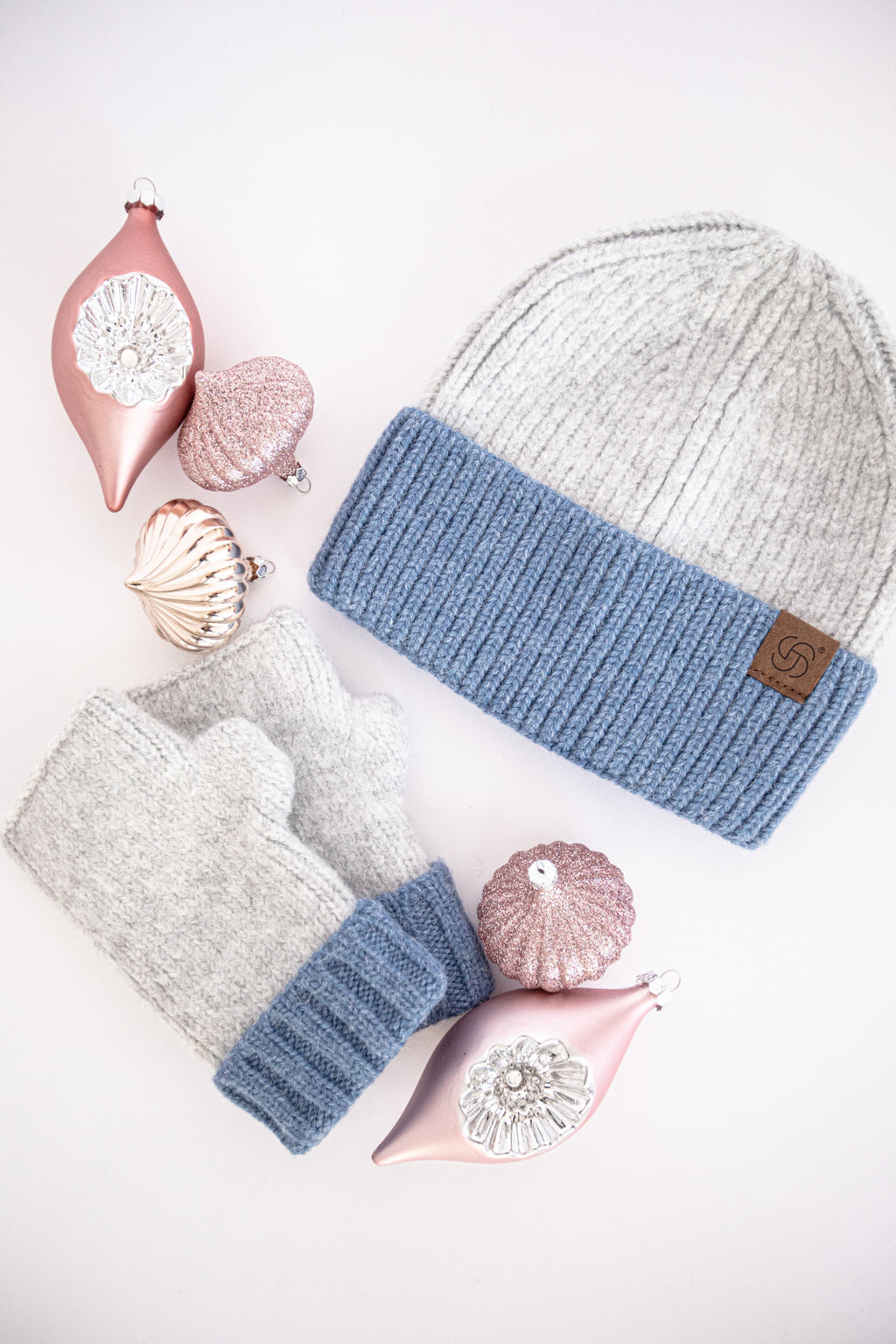 Cable Knit Beanie Hat with Face Mask Holder Buttons