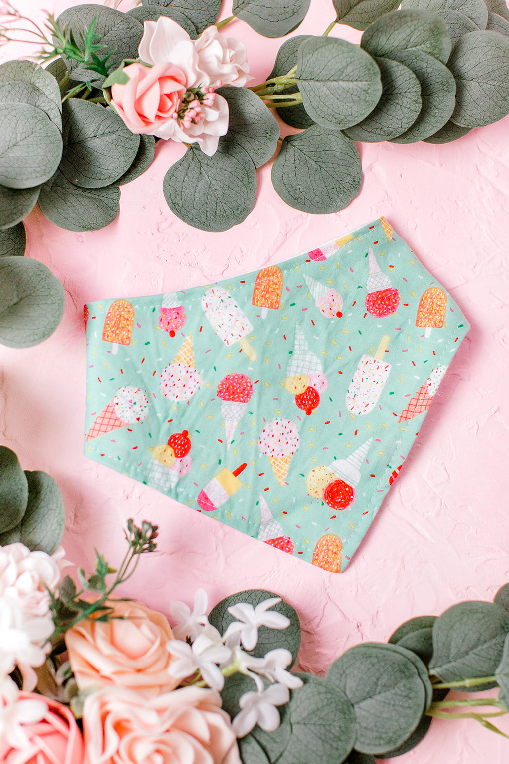 Mint Treats Bandana Bib