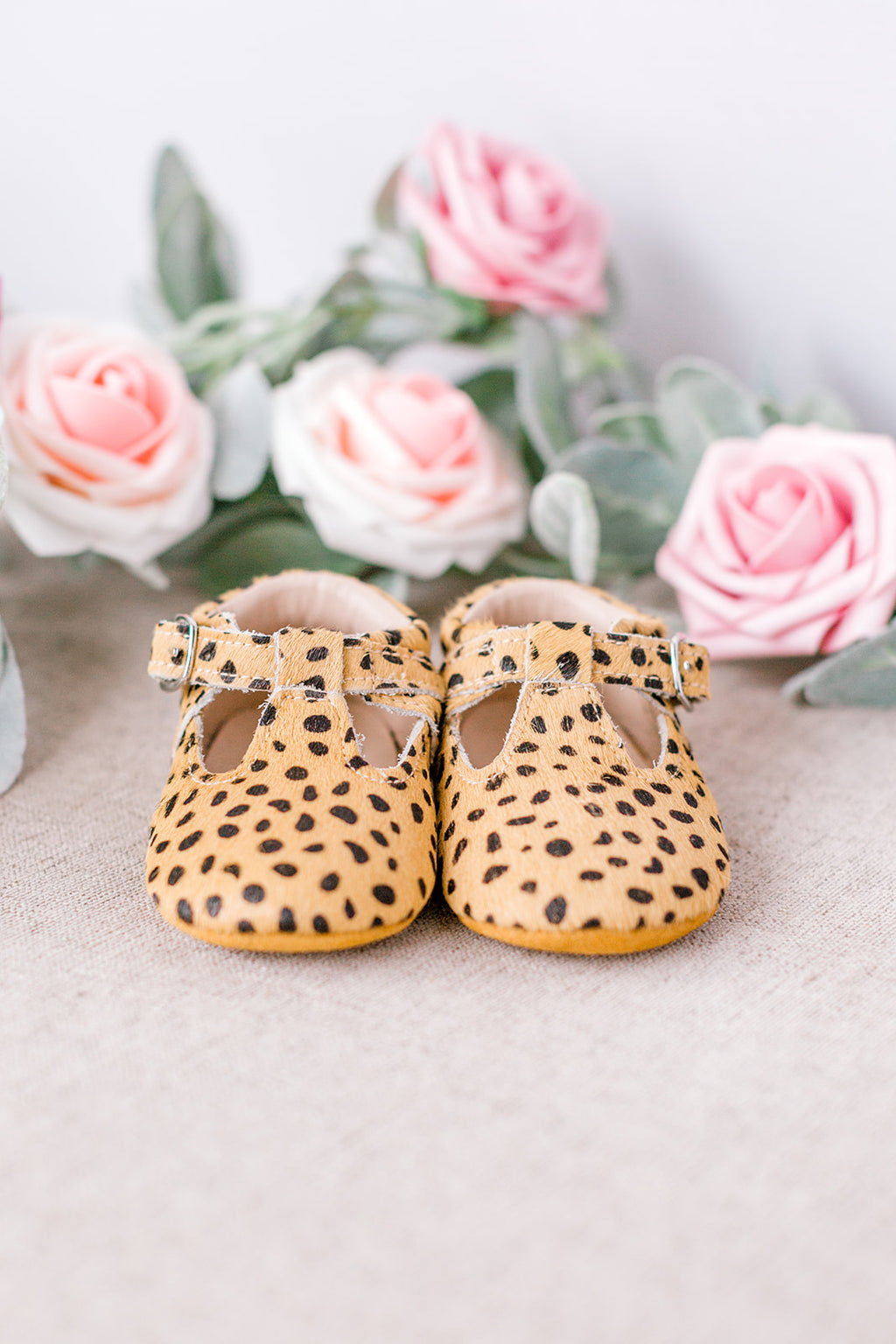 Leopard Soft-Soled Baby Mary Janes