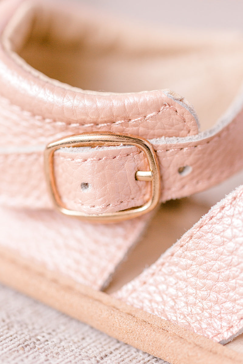 Blush Split-Soled Baby Sandals