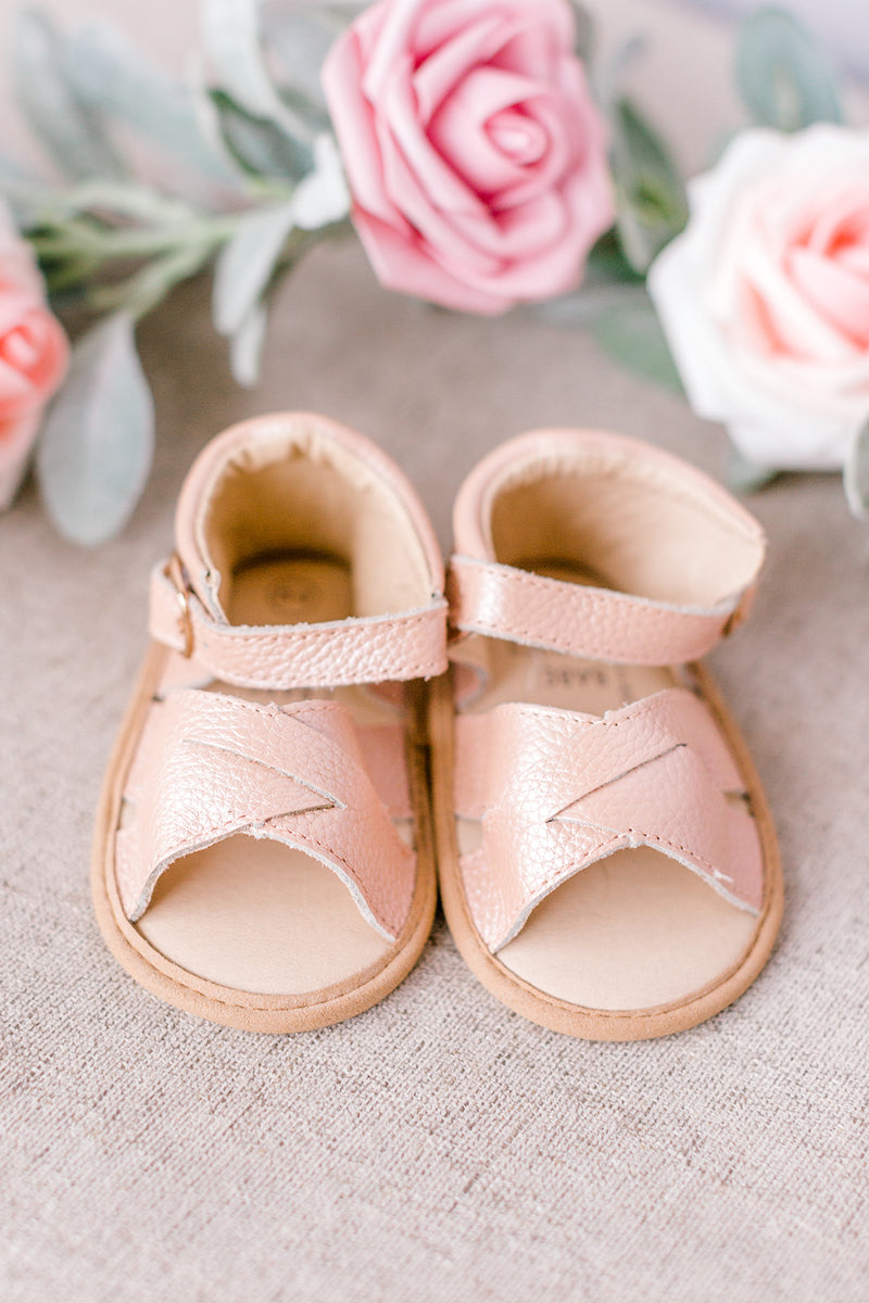 Blush Suede Baby Mary Janes