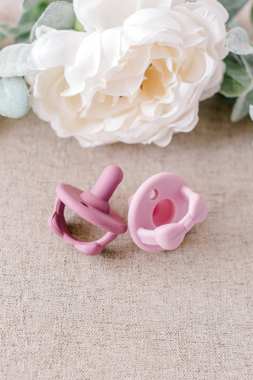 Soother Pacifiers- Lilac & Orchid