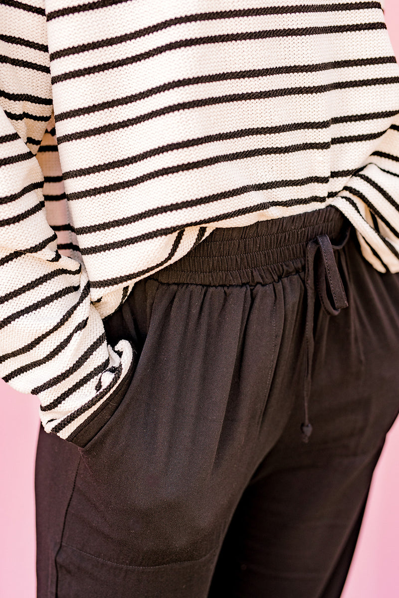 Elastic Waist Pants {Black}