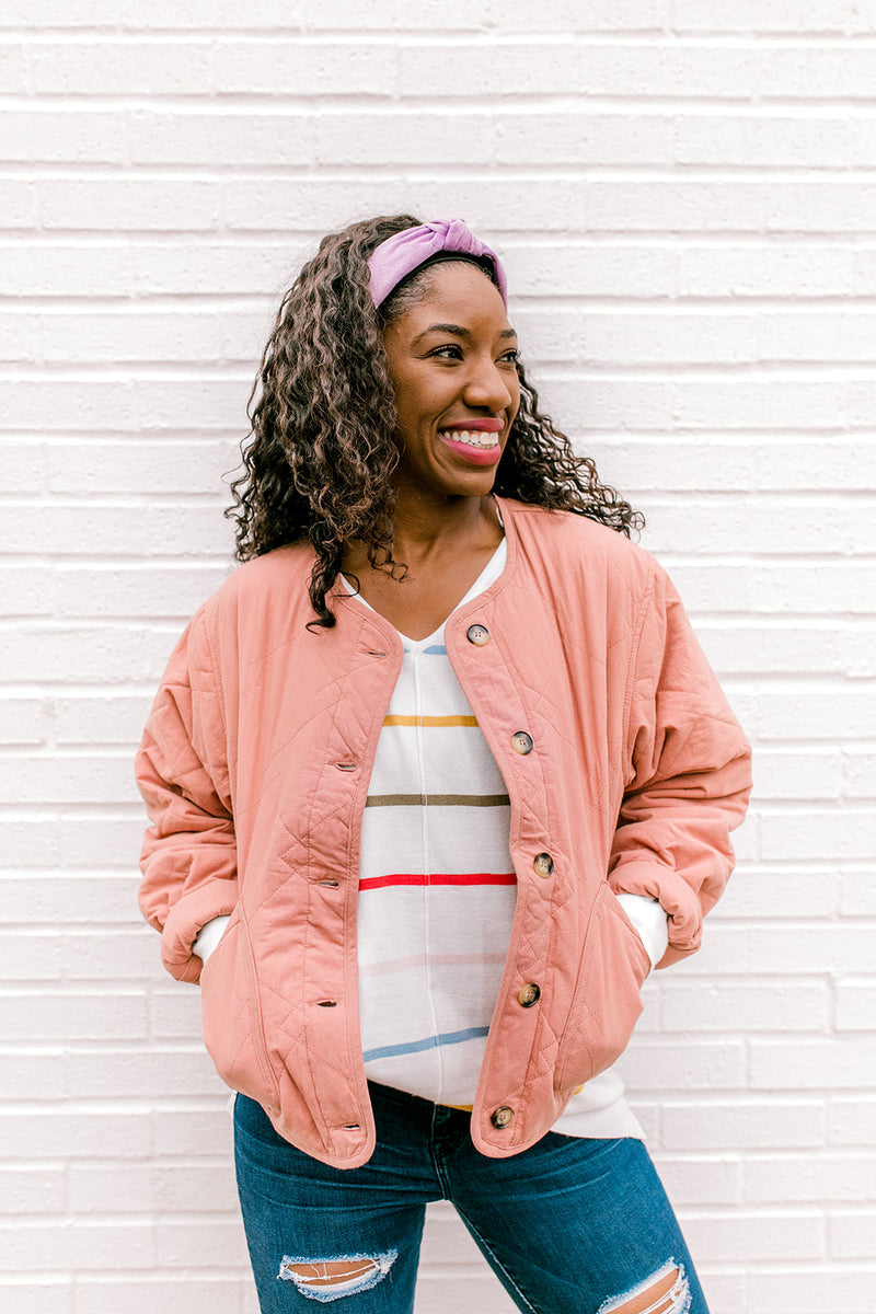 Clay Quilted Button Down Jacket
