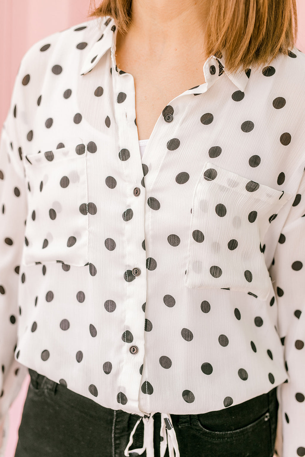 Ivory Polka Dot Top