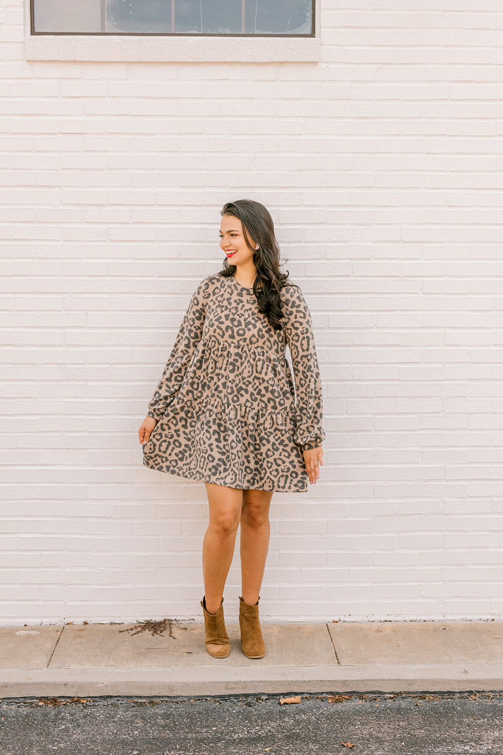 Brushed Animal Print Dress