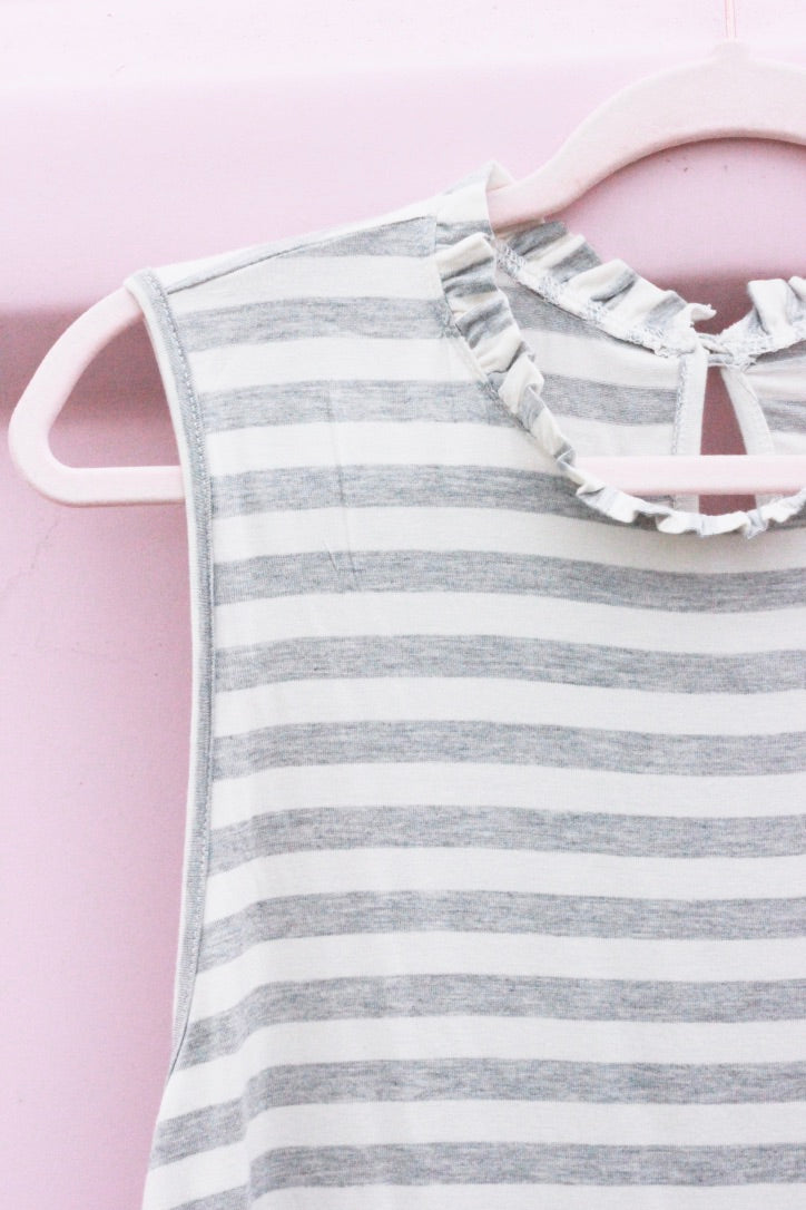 Sleeveless Striped Tank Top