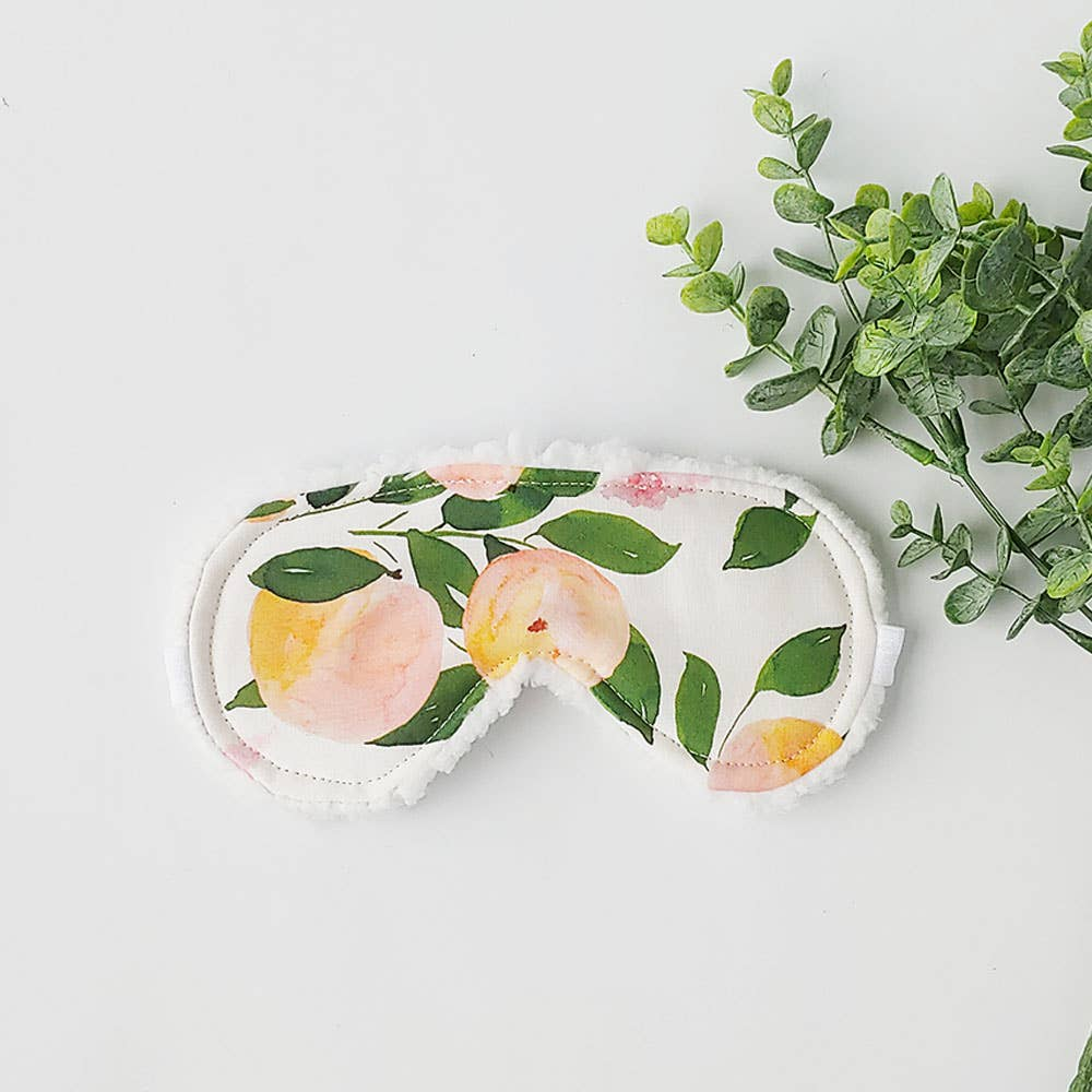 Peach Blooms Sleep Mask