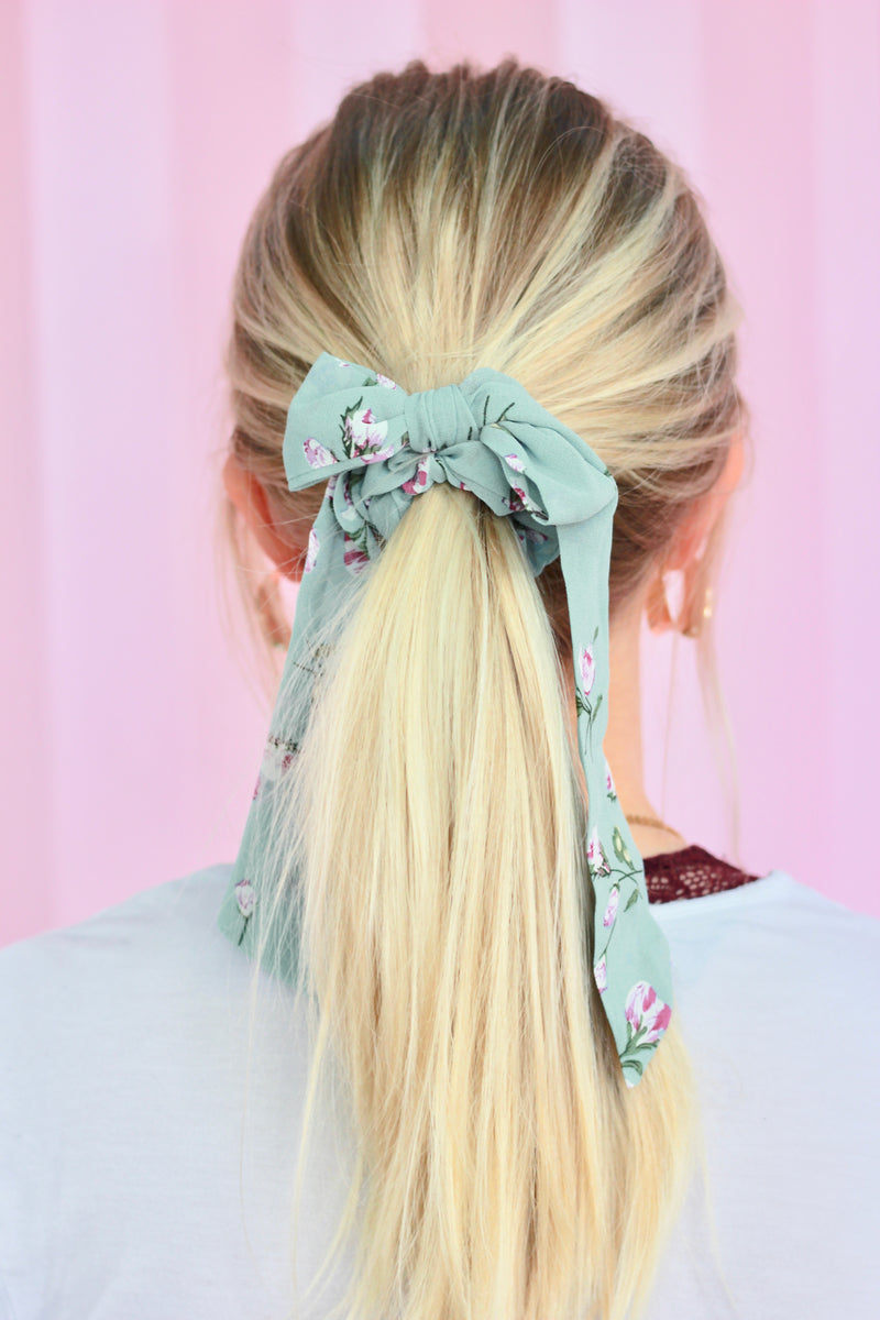 Bow Scrunchy Set {Mint}