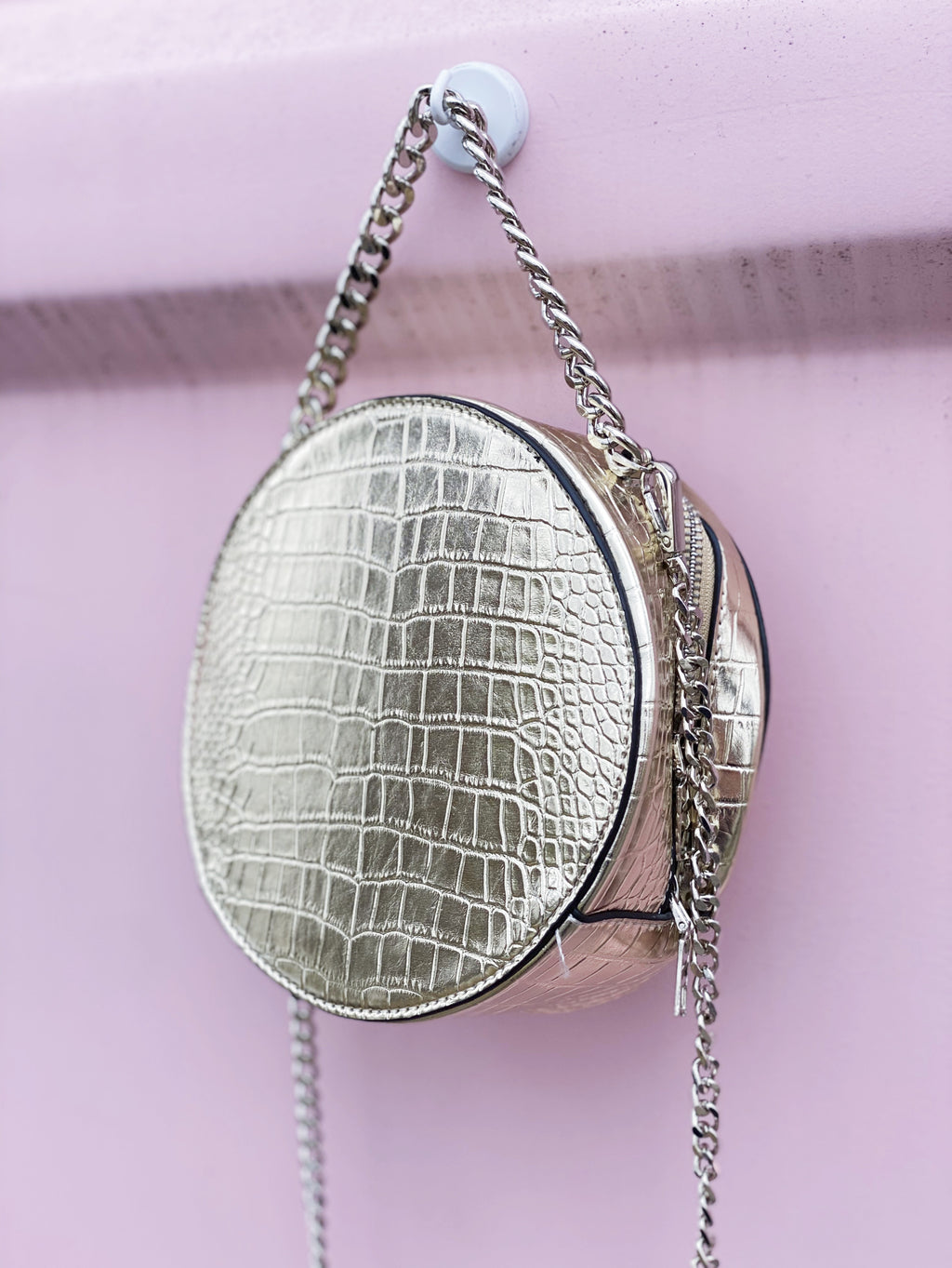 Metallic Circle Bag