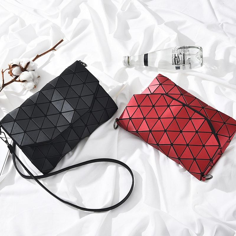 Luxury Geometric Unicolor Shoulder Bag