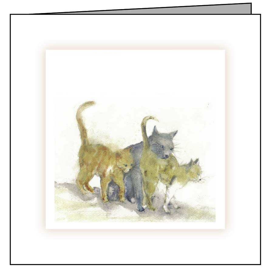 Animal Hospital Sympathy Card - Three Cats