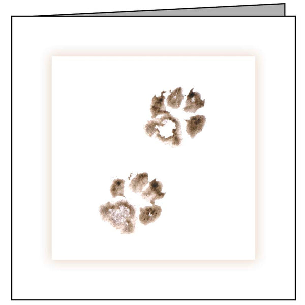 Animal Hospital Sympathy Card - Cat Paws