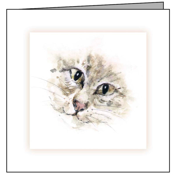Animal Hospital Sympathy Card - Cat Face
