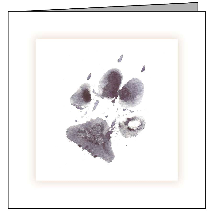 Animal Hospital Sympathy Card - Dog Paw
