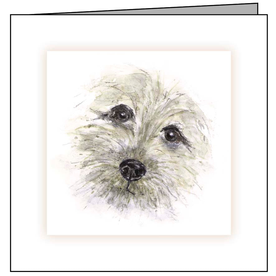 Animal Hospital Sympathy Card - Dog Face