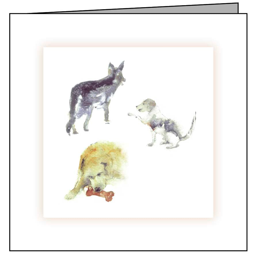 Animal Hospital Sympathy Card - Three Dogs