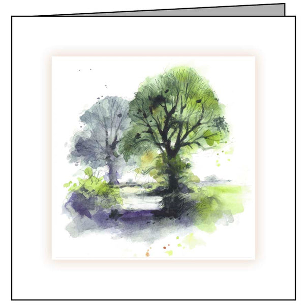 Animal Hospital Sympathy Card - Trees