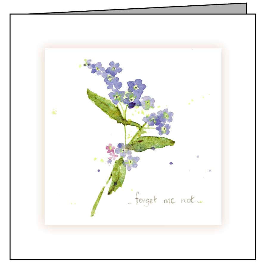 Animal Hospital Sympathy Card - Forget Me Nots