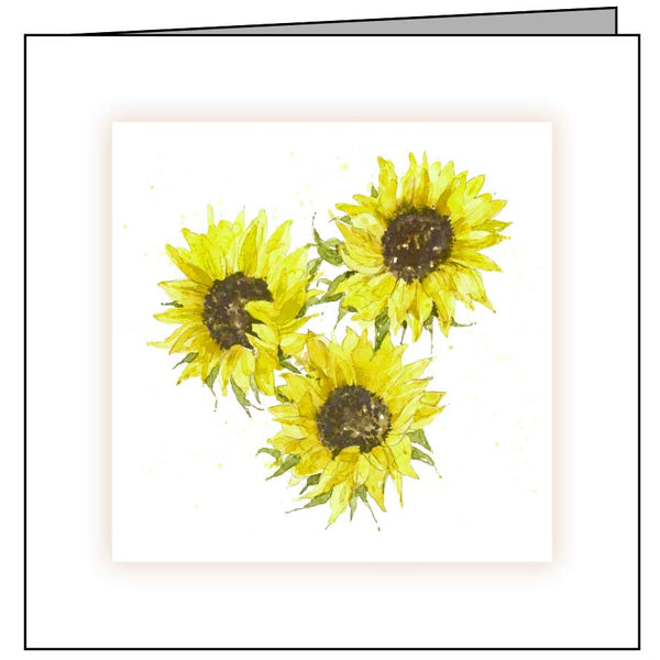 Animal Hospital Sympathy Card - Sunflowers