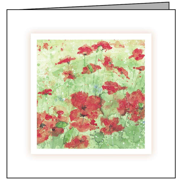 Animal Hospital Sympathy Card - Poppies