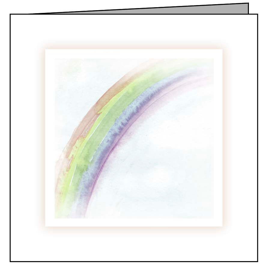 Animal Hospital Sympathy Card - Rainbow