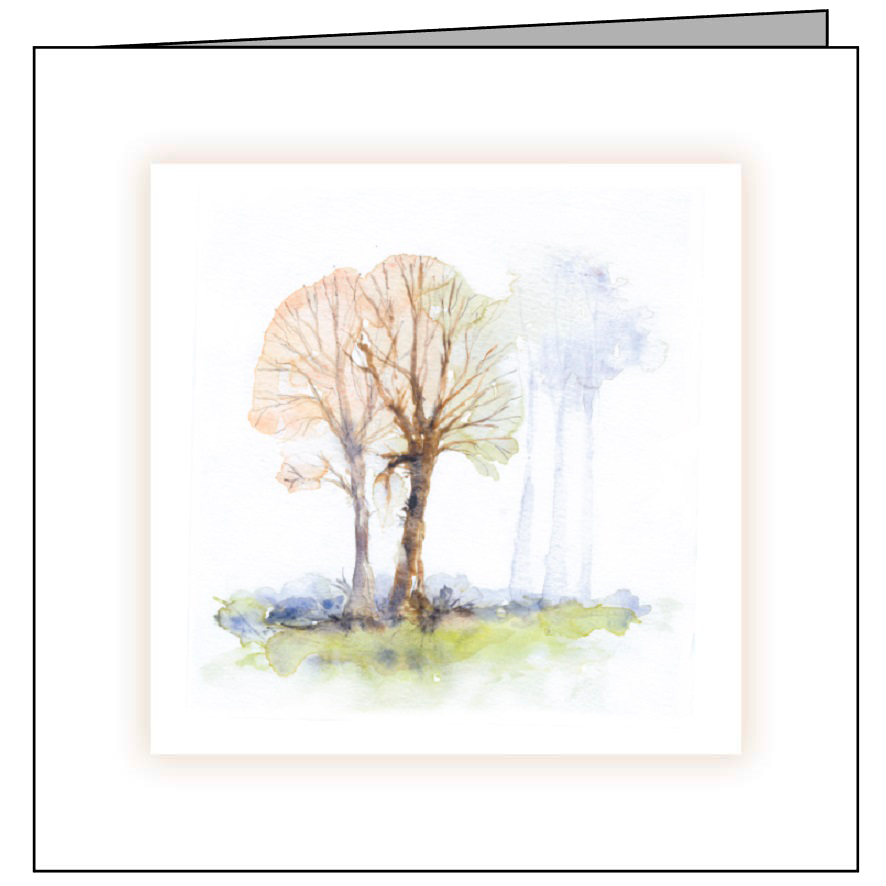 Animal Hospital Sympathy Card - Winter Trees