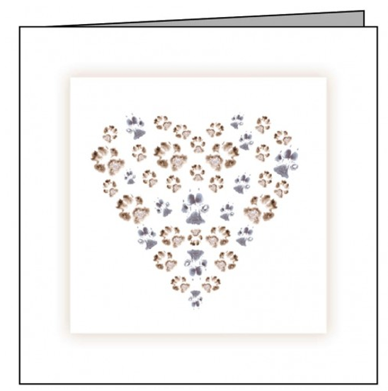 Animal Hospital Sympathy Card - Paw Heart