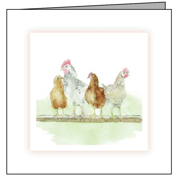 Animal Hospital Sympathy Card - Chickens