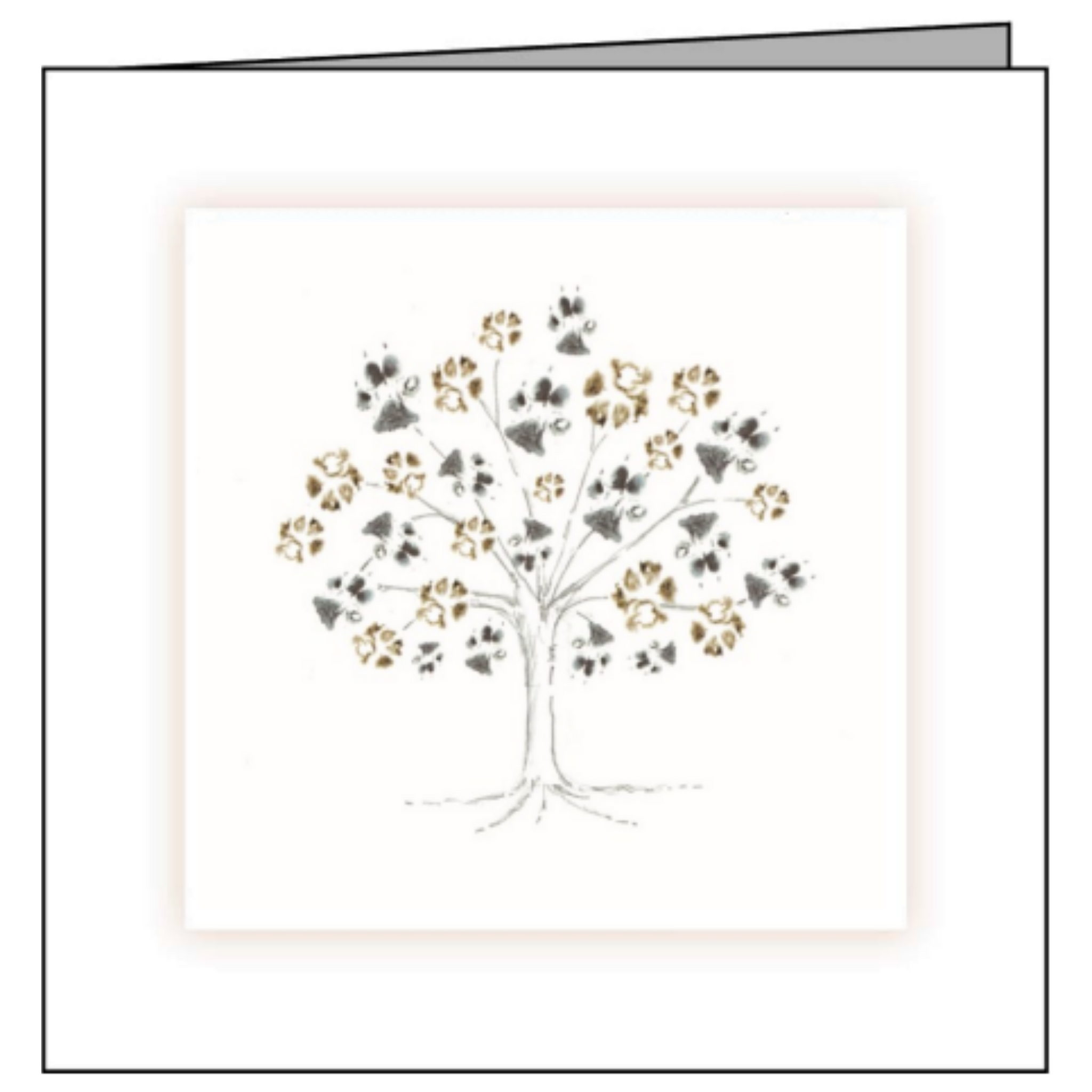 Animal Hospital Sympathy Card - Tree of Paws