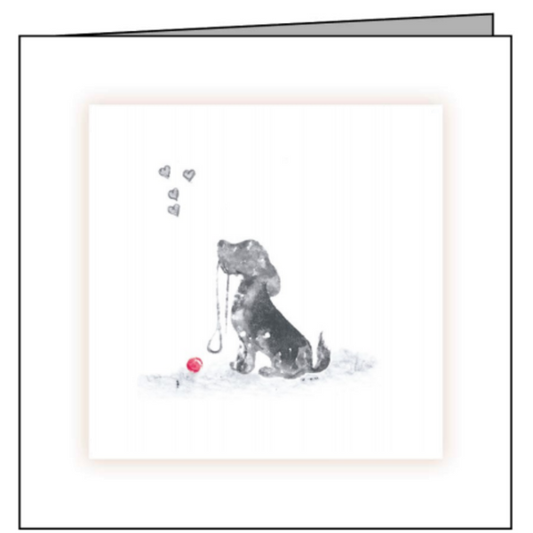 Animal Hospital Sympathy Card - Small Dog with Red Ball