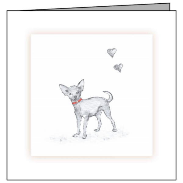 Animal Hospital Sympathy Card - Small Dog with Red Collar