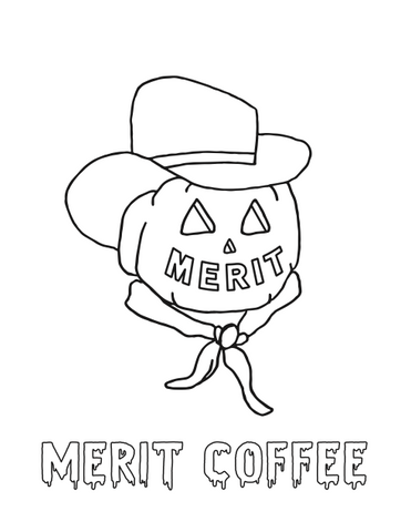 Merit Coffee Kids Coloring Pumpkin Jack PDF Download
