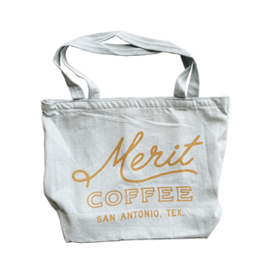 Merit Coffee City Edt. Washed Denim Totes